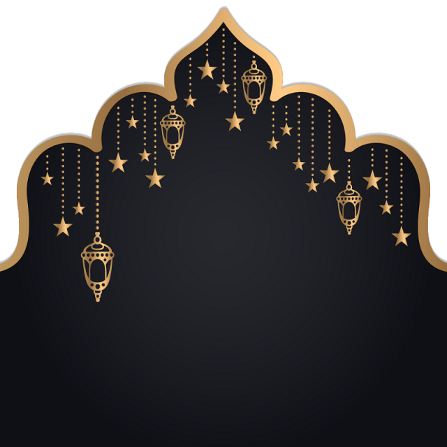 Islam Ramadan Kareem Golden Lantern Bingkai foto, Seni
