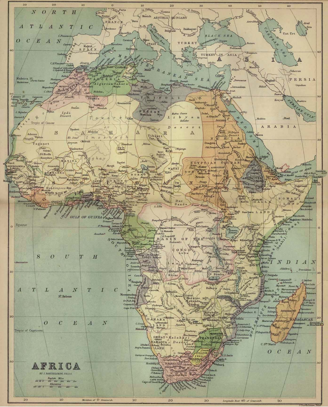 Map Of Africa In Map Africa Старые и Новые карты Old And - Colourless world map