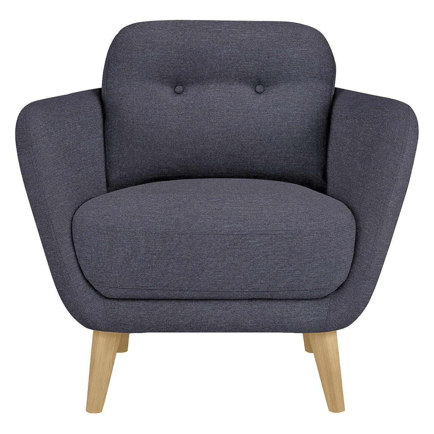 Buyhouse By John Lewis Arlo Armchair, Light Leg, Bevan Navy