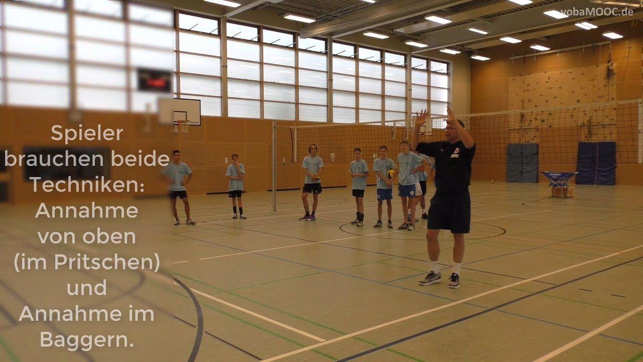 Stefan Hubner Annahme Von Oben Annahme Im Pritschen Volleyball Trainer Hubner