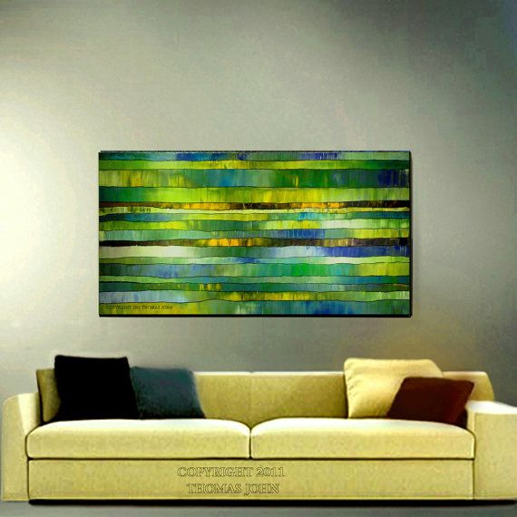 Abstract Painting Original Sofa Size Large By Thomasjohnartgallery