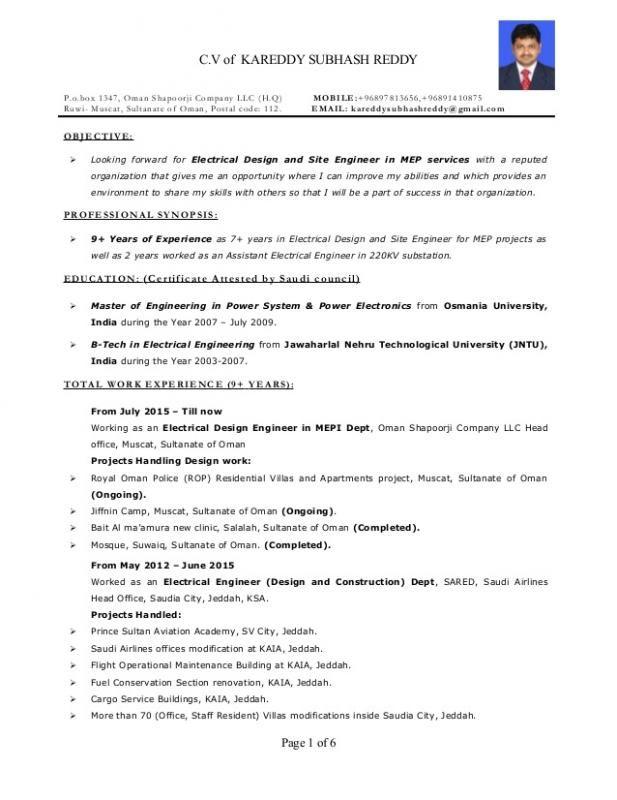 Electrical Engineer Resume Engineering Resume Templates Engineering Resume Job Resume Examples