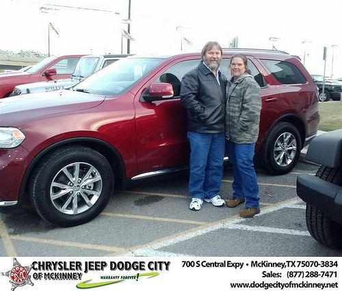 Thank You To Tim Drone On Your New 2014 Dodge Durango From Sisk Carlos And Everyone At Dodge City Of Mckinney Newcar With Images Dodge City Dodge City
