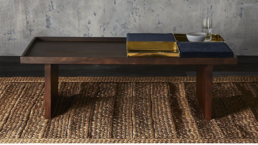Bento Coffee Table With Two Trays And Two Cushions Pinterest - Cb2 end table