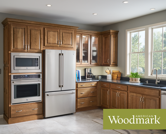 Olmsted Cherry Autumn Kitchen With Oven Cabinet Kitchen