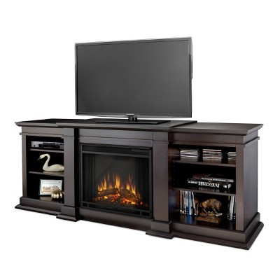 Real Flame Fresno Entertainment Electric Fireplace Dark Walnut