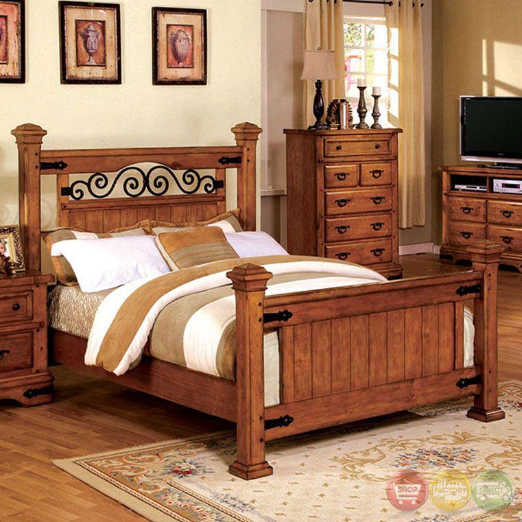 With its metalandwood design, the Sonoma bedroom set