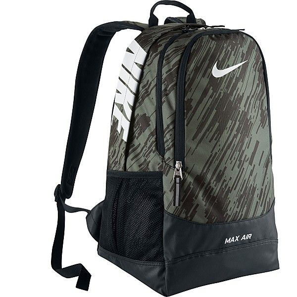 school: Mica Green/Black/White Max Air Large Backpack - Nike High ...
