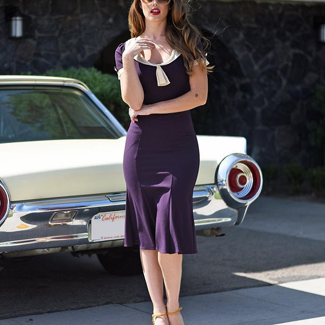 Collecting a few classics? Our ingeniously infamous Railene-now in a moody Eggplant. #uniquevintage #summerstyle #ootd #currentlwearing #stopstaring #vintagestyle #pinupstyle #retro #need #newarrivals #classiccar