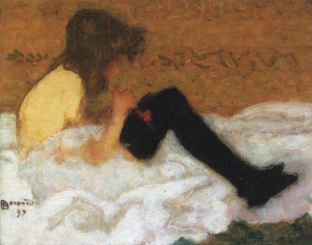[ B ] Pierre Bonnard - Le jeune fille aux bas noirs (1893) for *Huismus by Cea., via Flickr