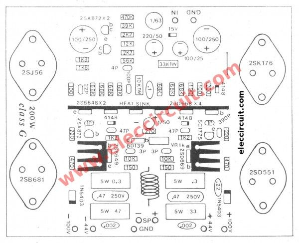 100 Watts Mosfet Amplifier Project Manual Guide