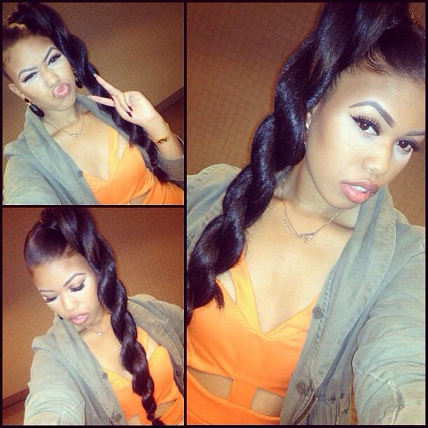 high side ponytail twist relaxed