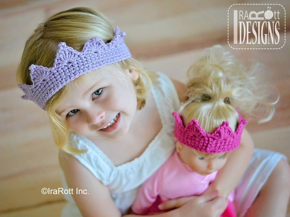 Free PDF Crochet Pattern for making a beautiful crown for a Princess ...