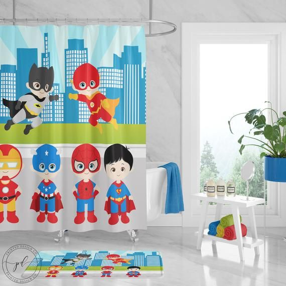 Wimaha Skin Friendly Baby Kids Cozy 100 Polyester Shower Curtains Waterproof Stall Showe Kids Bathroom Shower Curtain Kids Shower Curtain Kids Bathroom Shower