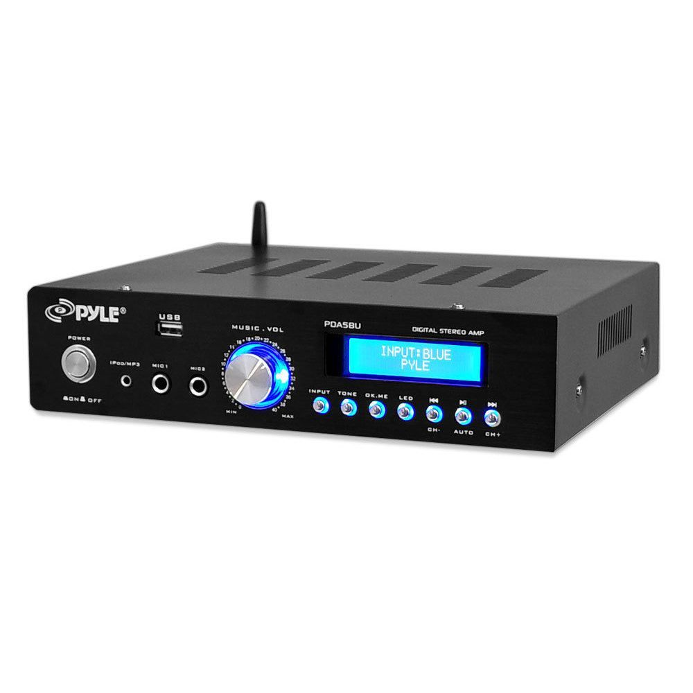 Pyles Amazing 200 Watt Bluetooth Stereo Amplifier Is The Perfect 2 Watts Using Three Lm386 Solution For Any Home Or