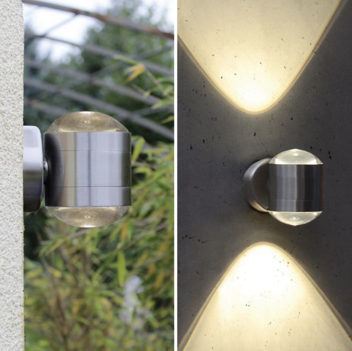 Outdoor Lampen The Lutec Lampen Crystal Outdoor Wall Light Is A Sleek And