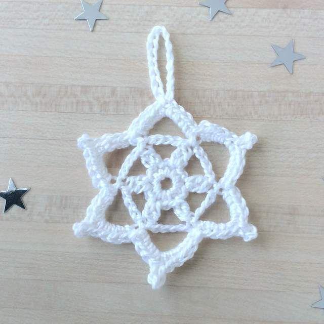 Comment faire un flocon au crochet tuto tricot et - Decorer sa maison virtuellement gratuit ...