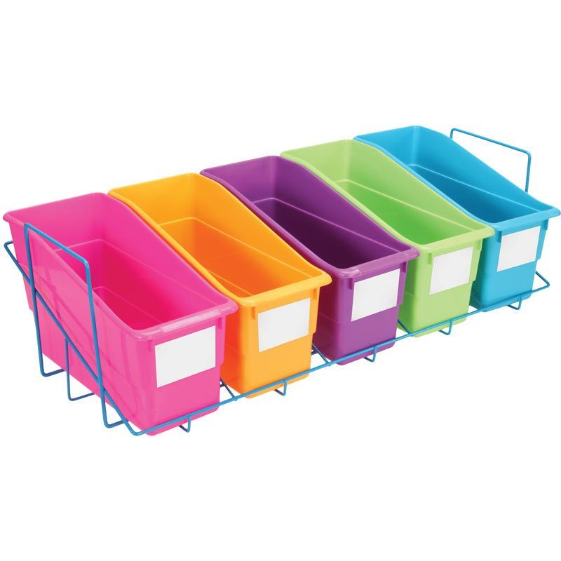 Store More® Durable Book And Binder Holders With Storage