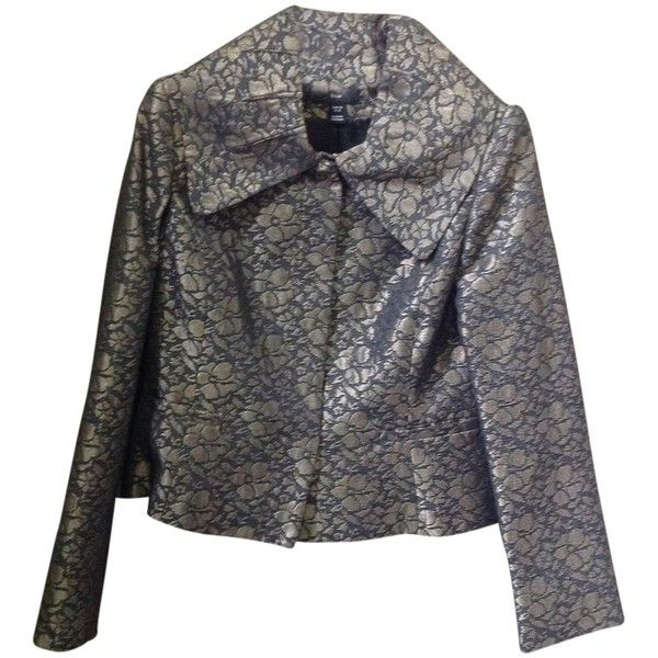 Pre-owned H&M Metallic Black And Burnished Gold Jacket ($51) ❤ liked on Polyvore