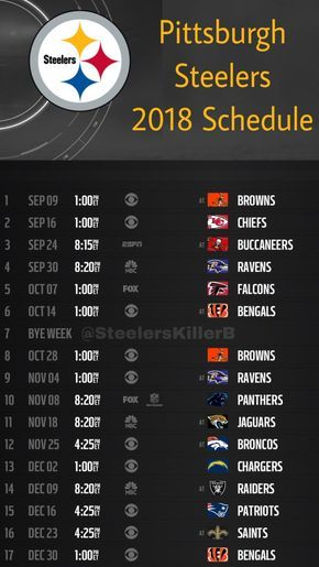 Adaptable image with steelers printable schedule