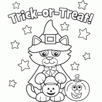 Kitty Costume Free N Fun Halloween From Oriental Trading Free Halloween Coloring Pages Halloween Coloring Book Halloween Coloring