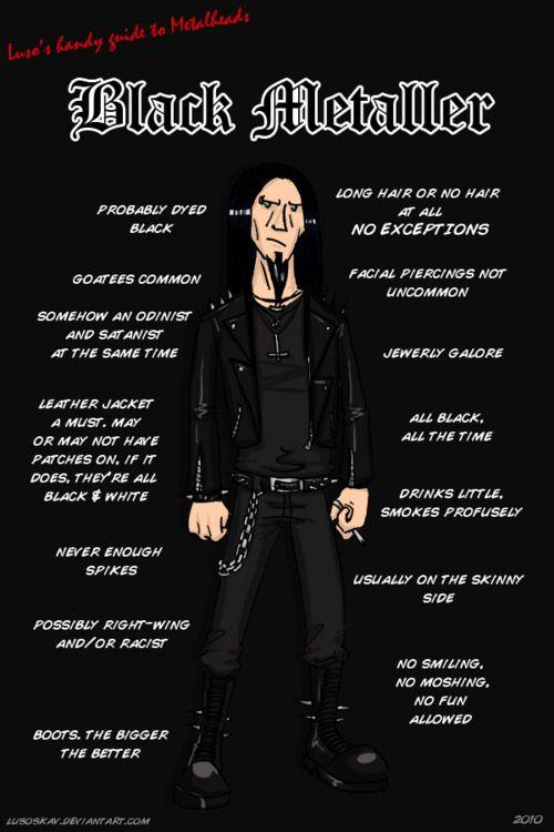 Tipos De Metaleros Heavy Metal Black Metal Art Metal Meme