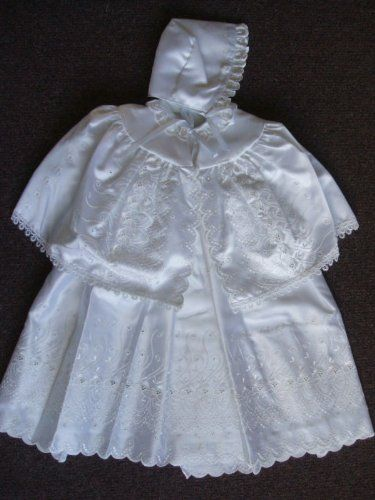 BABY BAPTISM CHRISTENING GOWN/DRESS, CAPE & HAT « Clothing Impulse