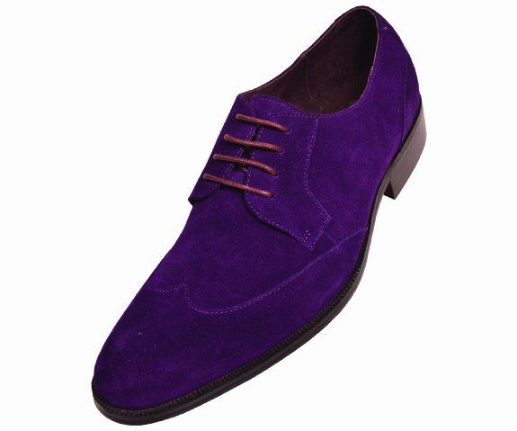 Amazon Com Steven Land Footwear Collection Mens Purple Suede Classic Wingtip Style Genuine Leather Oxford Dres Genuine Suede Dress Shoes Men Oxford Dress Shoe