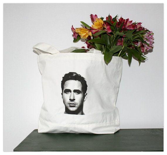 Ryan Gosling  sac cabas en toile coton éco par PineShore sur Etsy, $46.00