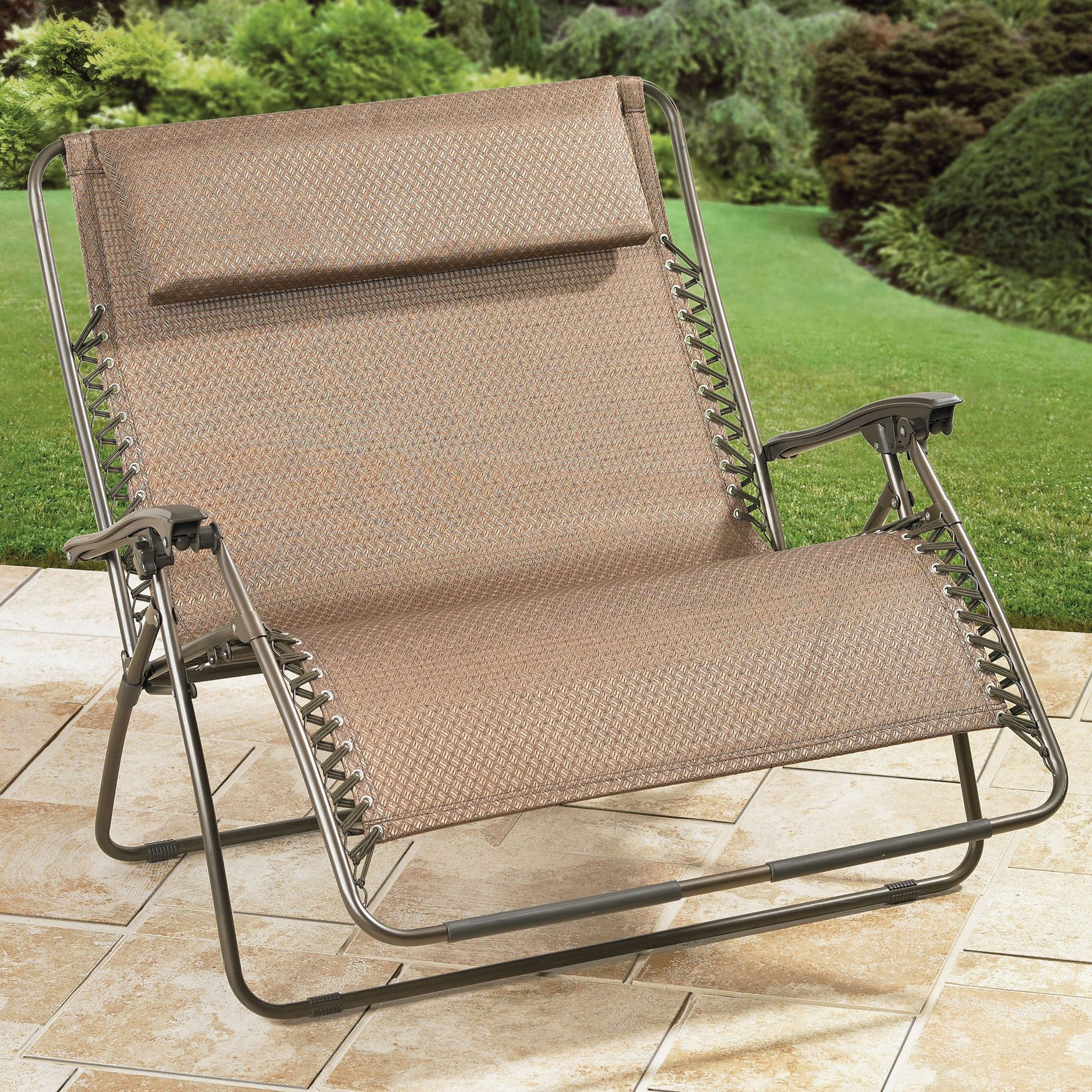 Extra Wide Zero Gravity Chair Oversized Patio Furniture Brylanehome