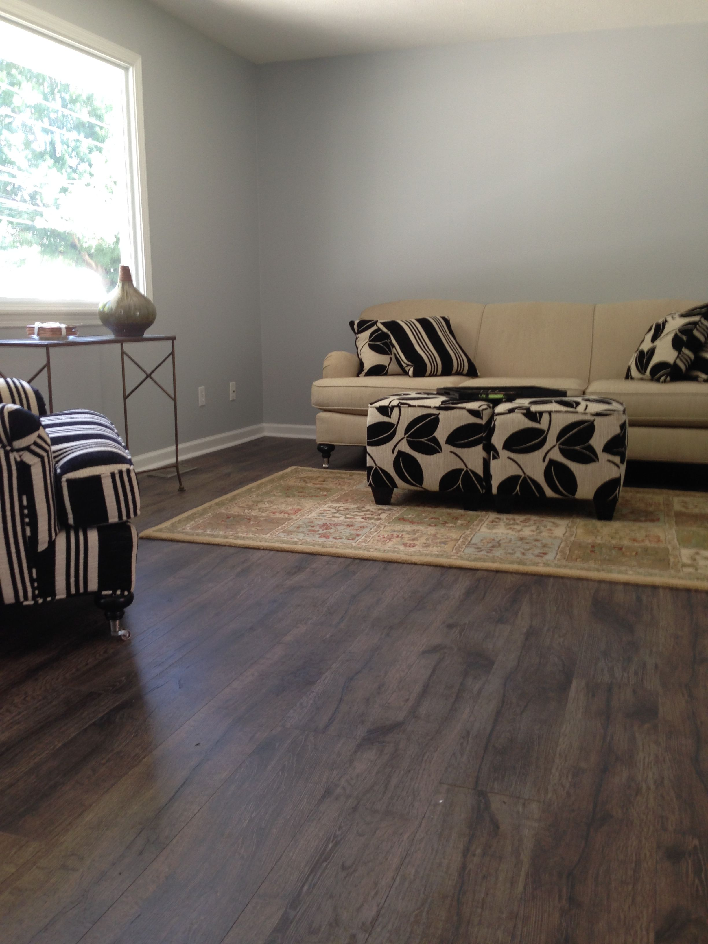 This House Flip From Michael W. Had @quickstepfloors Reclaime Flint Oak  Installed! #QuickStep #Laminate #Oak