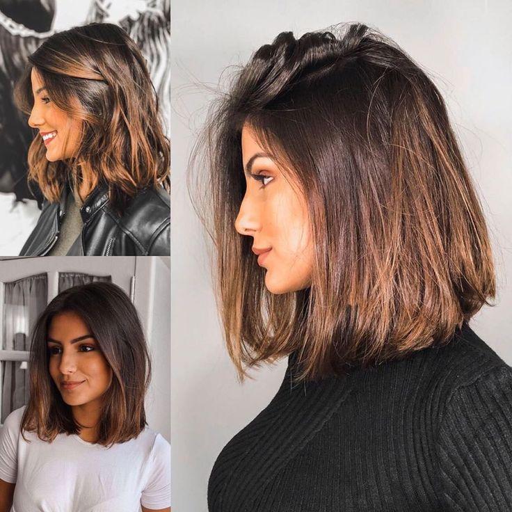 Photo of O comprimento de cabelo na altura do ombro e com reflexos é a cara de uma mulhe… – #altura… – My Blog