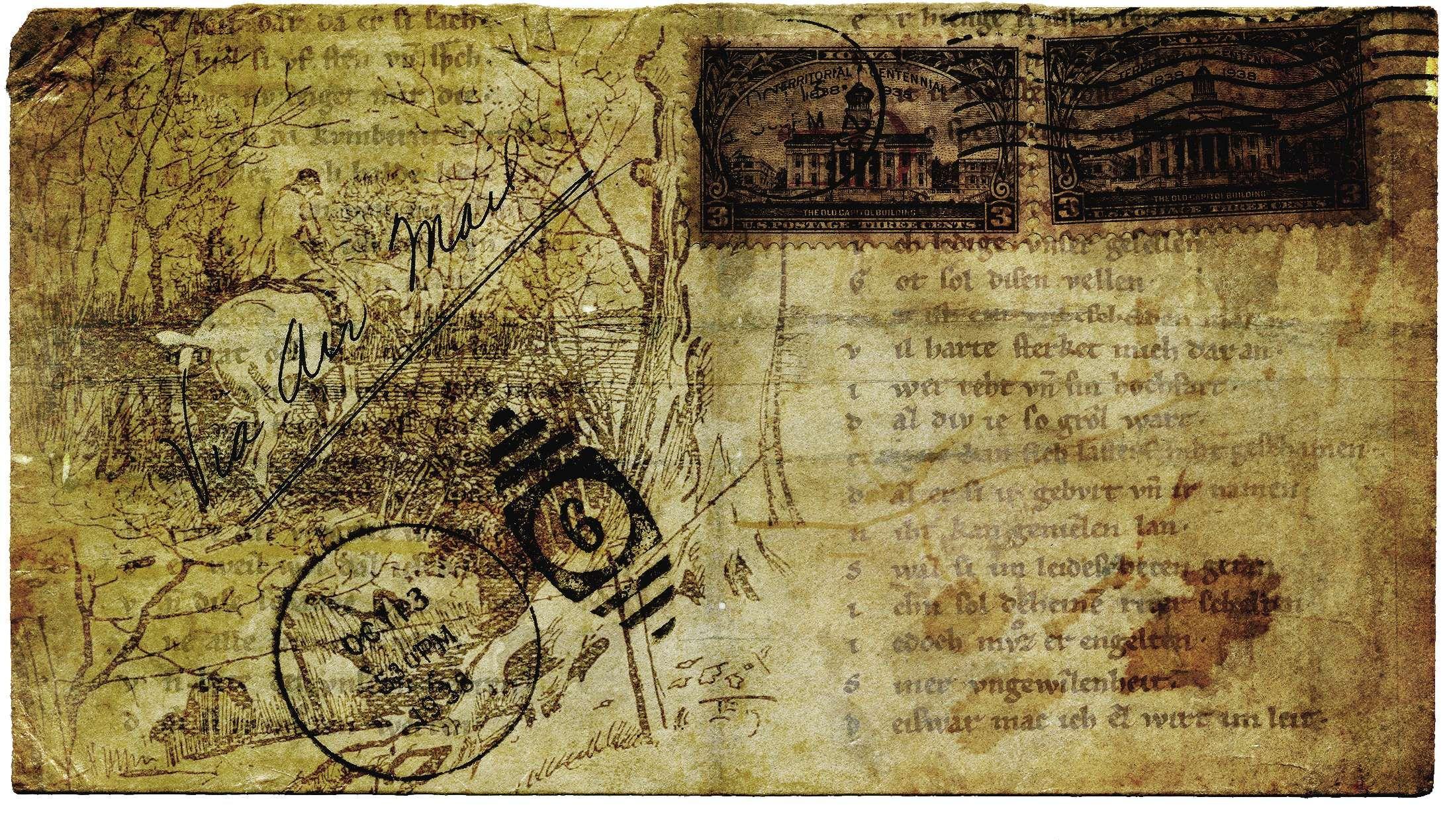 aged antique ephemera france grunge letters mail