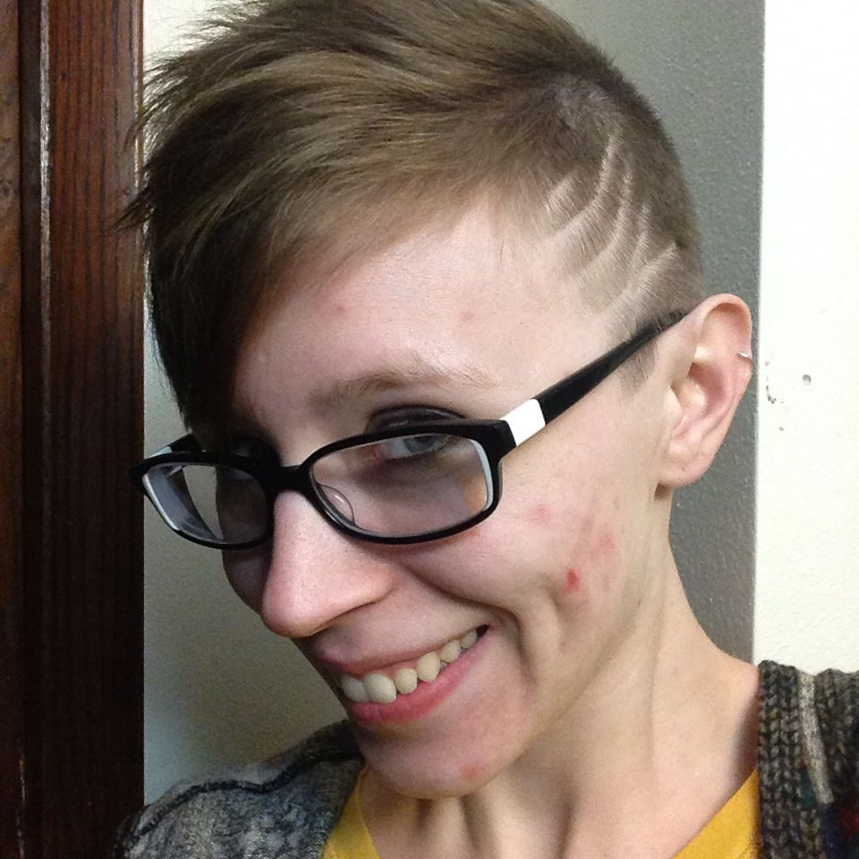 My new haircut An asymmetrical pixie with an undercut on one side
