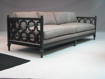 A Coastside Makeover Wood Sofa Sofa Design Sofa Couch Design