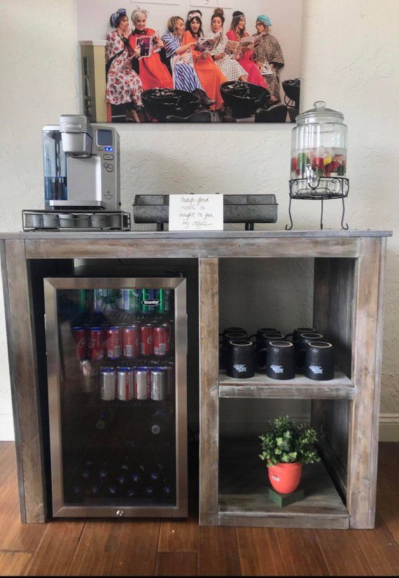 Mini Fridge Table Coffee Bar Home Bars For Home Decor