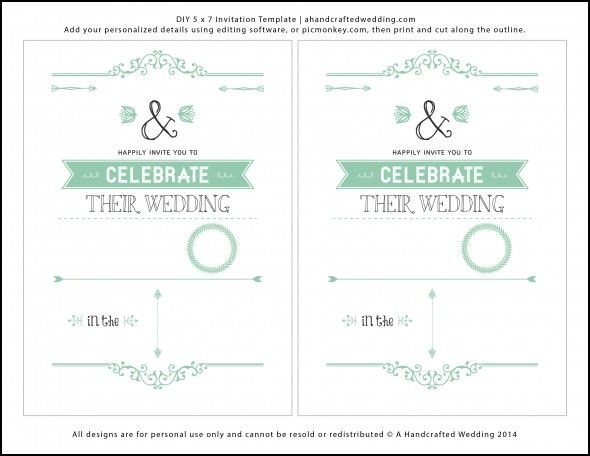Wedding Invitation Layout Templates Wedding Ideas Pinterest - Wedding invite layout templates