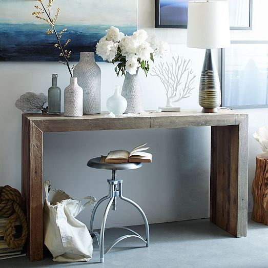 Emmerson Reclaimed Wood Console Natural Hall Table Decor