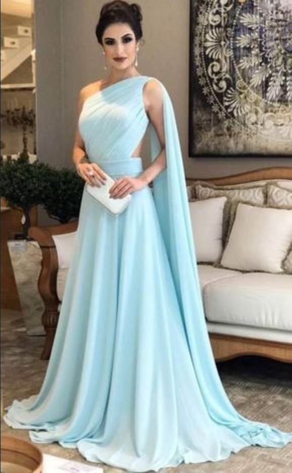 Hot Sell One Shoulder Long Prom Dress #prom #promdress #dress ...