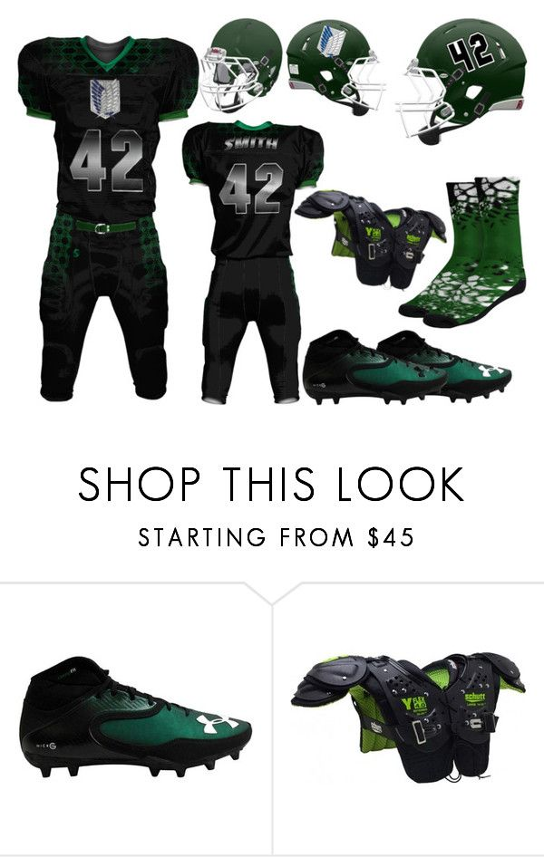 """""""Erwin Smith Footbal Gear"""" by vampirekitty34 ❤ liked on Polyvore featuring Riddell, Under Armour, men's fashion and menswear"""
