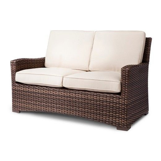 Halsted Wicker Patio Loveseat Threshold Target