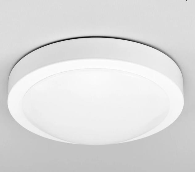 Plafonnier salle de bain led aras, blanc LAMPENWELT blanc Plafonnier ...