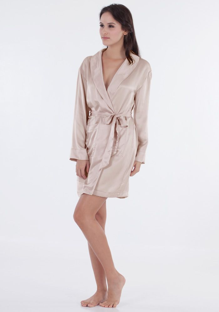 3543cb1a9e87 Silk women nightwear robes--Khaki robes  Silk  robes