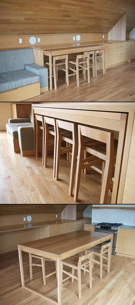 Hide Away Table Love This Tiny House Living Small Spaces