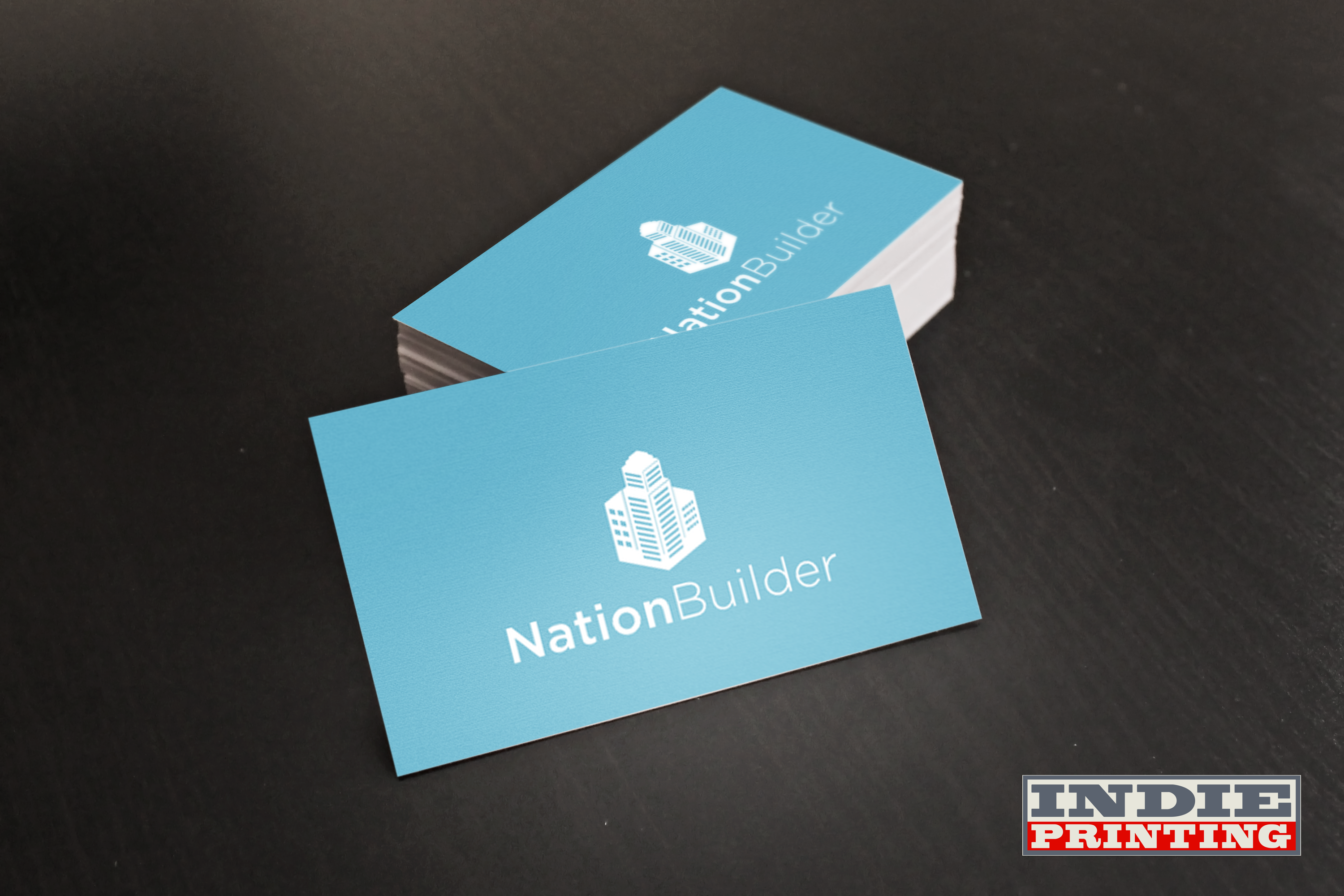 Card stock full color both sides digital offset print matte finish ...