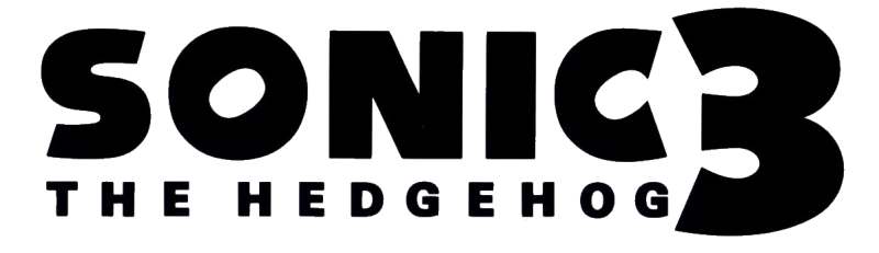 sonic the hedgehog logo black and white