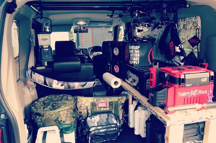 インスタで発見 素敵な 釣り車 あなたのカスタマイズ教えてください 釣り 釣具 収納 カスタマイズ