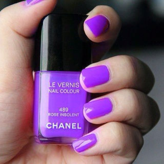 Bright Pink Nail Polish Colors: Bright Purple Chanel Nail Polish. Just Discovered This