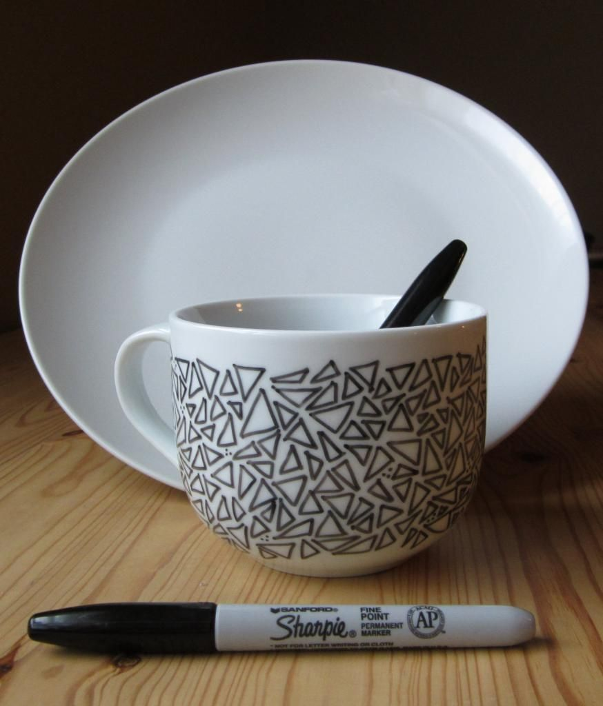 smart idea porcelain coffee mugs. 14 sharpie dish and mug ideas  you can create whole custom crockery set with personalized designs patterns 25 Artistic Baked Sharpie Dish DIY Designs Paint pens