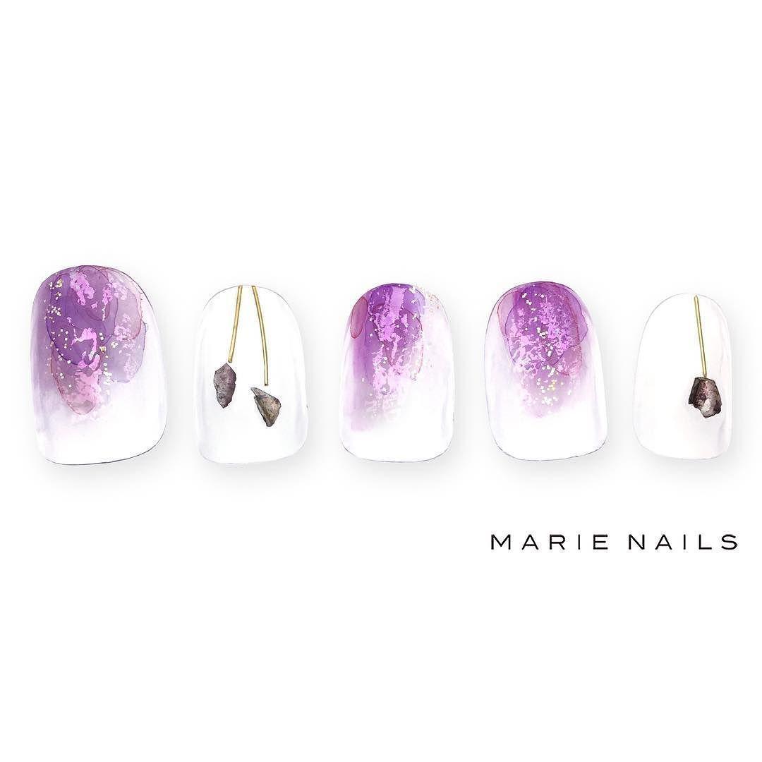 #マリーネイルズ #marienails #ネイルデザイン #かわいい #ネイル #kawaii #harajuku #ジェルネイル#trend #nail #toocute #pretty #nails #ファッション #naildesign #awsome #beautiful #nailart #tokyo #fashion #ootd #nailist #ネイリスト #ショートネイル #gelnails #instanails #newnail #cool #purple #girly
